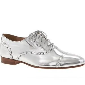 J. CREW | Retro Mirror Metallic Oxfords